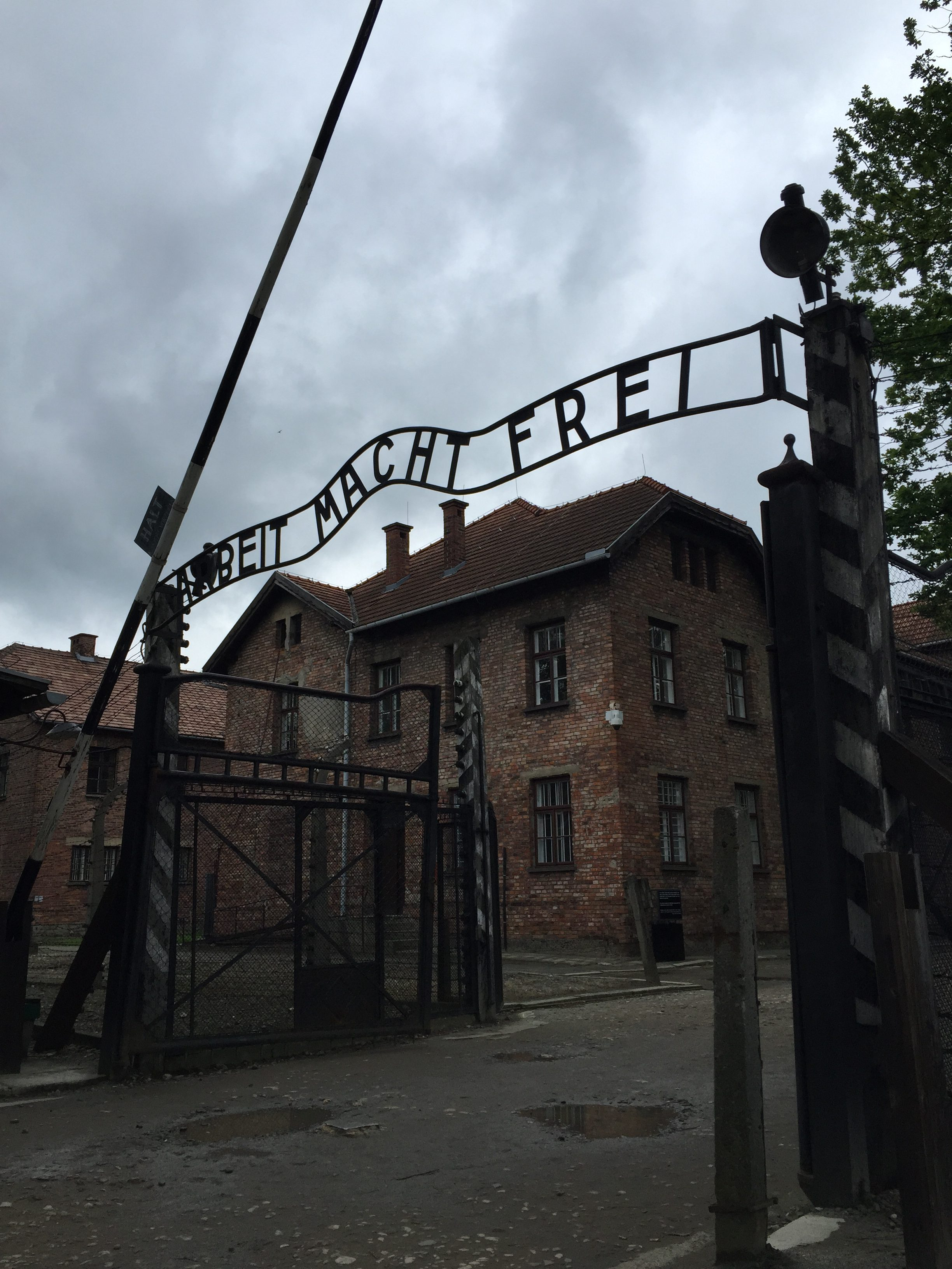 A Visit to Auschwitz - gate