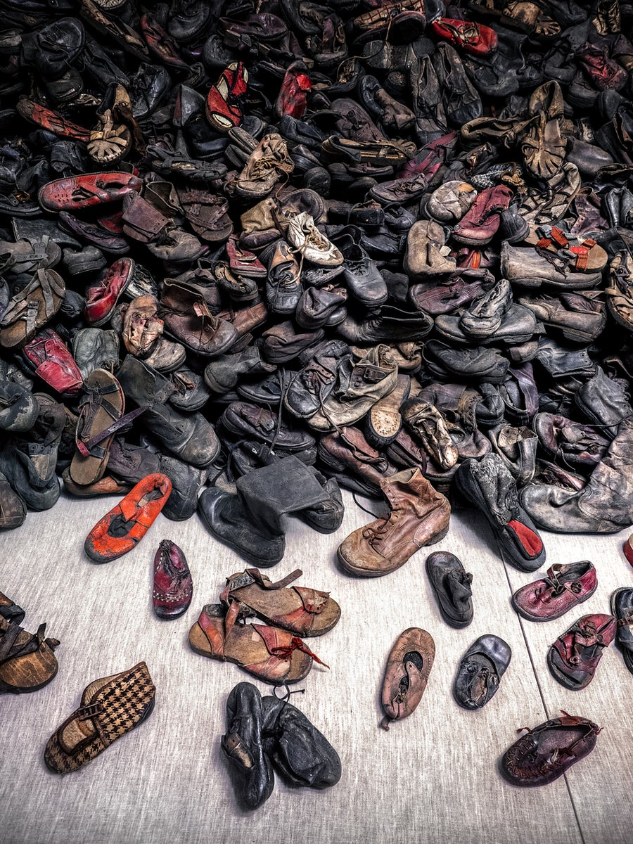 A Visit to Auschwitz - shoes
