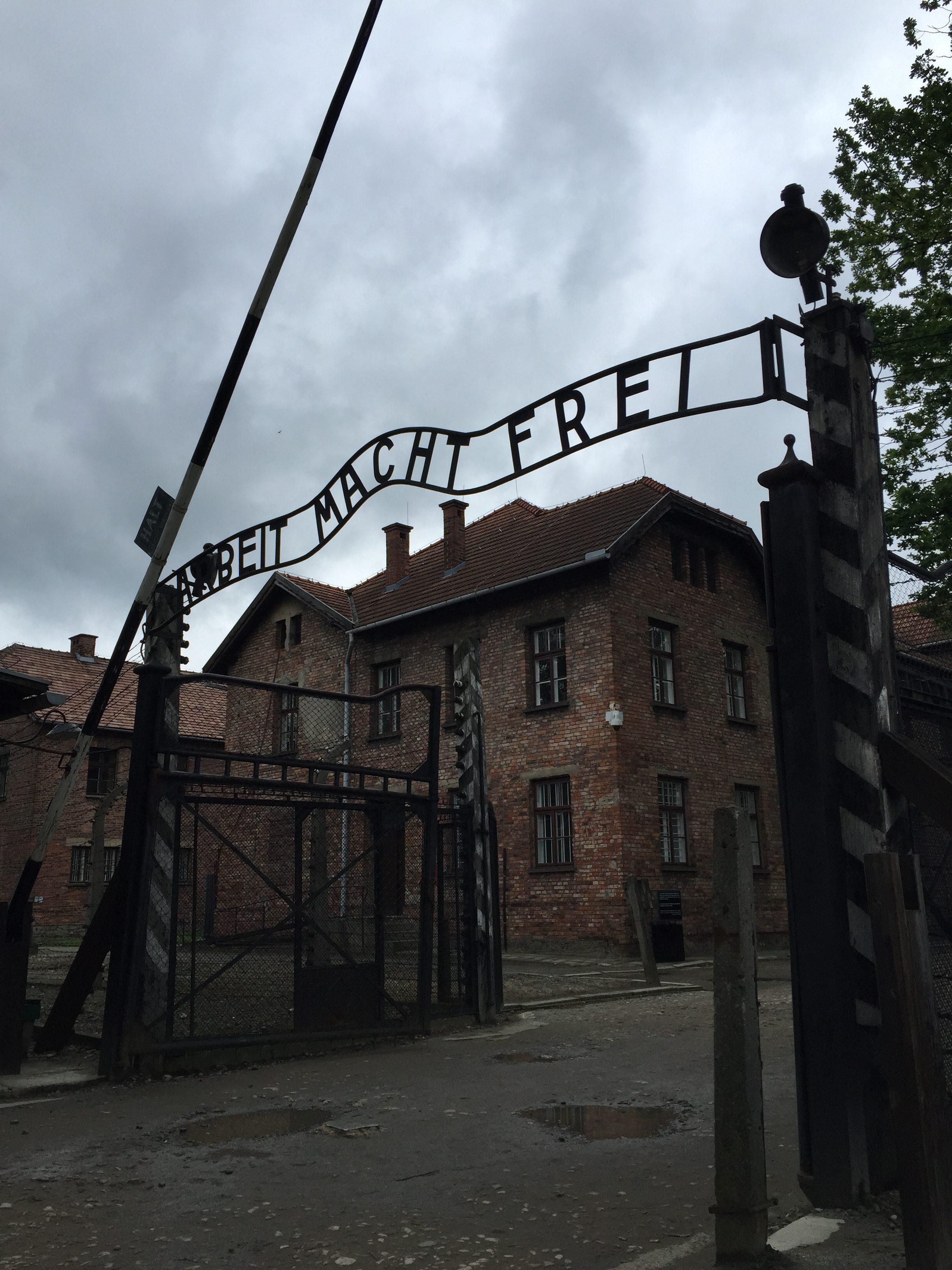 A Visit to Auschwitz - gate